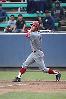 Derek Chapman (1) of the Washington State Cougars bats against the Loyola Marymount Lions at Page Stadium on February 26, 2017 in Los Angeles, California. Loyola defeated Washington State, 7-4. (Larry Goren/Four Seam Images)