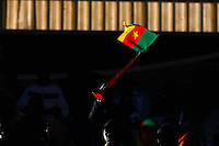 Cameroon fans in the stands during the game against Japan