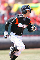 April 15th 2008:  Infielder Will Rhymes (3) of the Erie Seawolves, Class-AA affiliate of the Detroit Tigers, during a game at Jerry Uht Park in Erie, PA.  Photo by:  Mike Janes/Four Seam Images