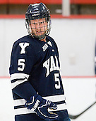 Nick Jaskowiak (Yale - 5) - The Harvard University Crimson defeated the visiting Yale University Bulldogs 8-2 in the third game of their ECAC Quarterfinal matchup on Sunday, March 11, 2012, at Bright Hockey Center in Cambridge, Massachusetts.