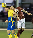 Kelty Hearts v St Johnstone…07.10.20   New Central Park  Betfred Cup<br />Chris Kane and Craig Reid<br />Picture by Graeme Hart.<br />Copyright Perthshire Picture Agency<br />Tel: 01738 623350  Mobile: 07990 594431