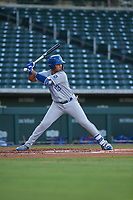 AZL Royals Diego Maican (13) at bat during an Arizona League game against the AZL Cubs 1 on June 30, 2019 at Sloan Park in Mesa, Arizona. AZL Royals defeated the AZL Cubs 1 9-5. (Zachary Lucy/Four Seam Images)