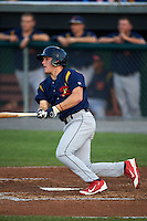 State College Spikes outfielder Harrison Bader (41) at bat during a game against the Auburn Doubledays on July 6, 2015 at Falcon Park in Auburn, New York.  State College defeated Auburn 9-7.  (Mike Janes/Four Seam Images)