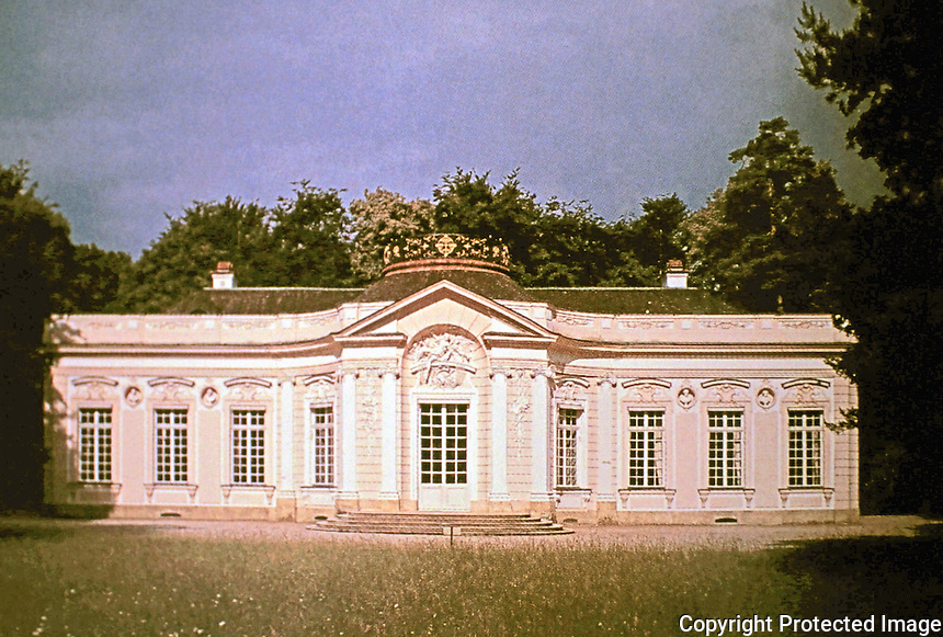 Amalienberg, a a hunting lodge built for the electress Maria Amalia on the grounds of the summer palace at Nymphenburg outside of Munich. Rococo design by François Cuvilliés.