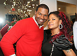Make-up Artist Christopher Michael and Fashion Stylist Misa Hylton-Brim attend Celebrity Hairstylist Amoy Pitters & Host Joy Bryant Celebrate The Opening of Amoy Couture Hair Salon with Music by DJ Cassidy, New York, 2/16/10