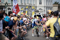 Yoann Offredo (FRA/Wanty-Gobert) signing autographs at the race start in Brussels<br /> <br /> Stage 1: Brussels to Brussels(BEL/192km) 106th Tour de France 2019 (2.UWT)<br /> <br /> ©kramon