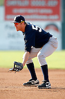 August 16, 2009:  First Baseman Luke Murton of the Staten Island Yankees during a game at Dwyer Stadium in Batavia, NY.  Staten Island is the Short-Season Class-A affiliate of the New York Yankees.  Photo By Mike Janes/Four Seam Images