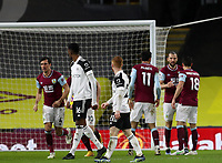 17th February 2021; Turf Moor, Burnley, Lanchashire, England; English Premier League Football, Burnley versus Fulham; Ashley Barnes of Burnley celebrates after scoring to level the score at 1-1 after 52 minutes