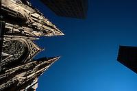NEW YORK-NY-29-04-2012.La Catedral de San Patricio en la ciudad de Nueva York. The St. Patrick´s Cathedral in New York City (Photo: VizzorImage/Luis Ramirez).......