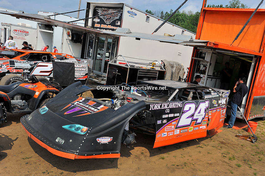 Aug 5, 2010; 3:28:47 PM; New Richmond, WI., USA; The 23rd Annual USA Nationals presented by U.S. Steel Corporation running a 50,000-to-win World of Outlaws Dirt Late Model Series sanctioned event at Cedar Lake Speedway.  Mandatory Credit: (thesportswire.net)