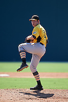 Pittsburgh Pirates pitcher Nick Hutchings (91) during an instructional league intrasquad black and gold game on October 2, 2015 at Pirate City in Bradenton, Florida.  (Mike Janes/Four Seam Images)