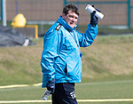 St Johnstone Training…29.03.19<br />Manager Tommy Wright pictured during training this morning at McDiarmid Park ahead of tomorrow's trip to Motherwell.<br />Copyright Perthshire Picture Agency<br />Tel: 01738 623350  Mobile: 07990 594431