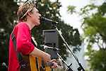 Joel Plaskett sings a few songs for the crowd post march. <br /> <br /> On July 5th more than 10,000 people gathered in Toronto, the traditional territories of the Missisauga peoples, for the March for Jobs, Justice and the Climate. The march told the story of a new economy that works for people and the planet. People marched for an economy that starts with justice, creates good work, clean jobs and healthy communities. The people recognize that we have solutions and we know who is responsible for causing the climate crisis. (Photo: Robert van Waarden)