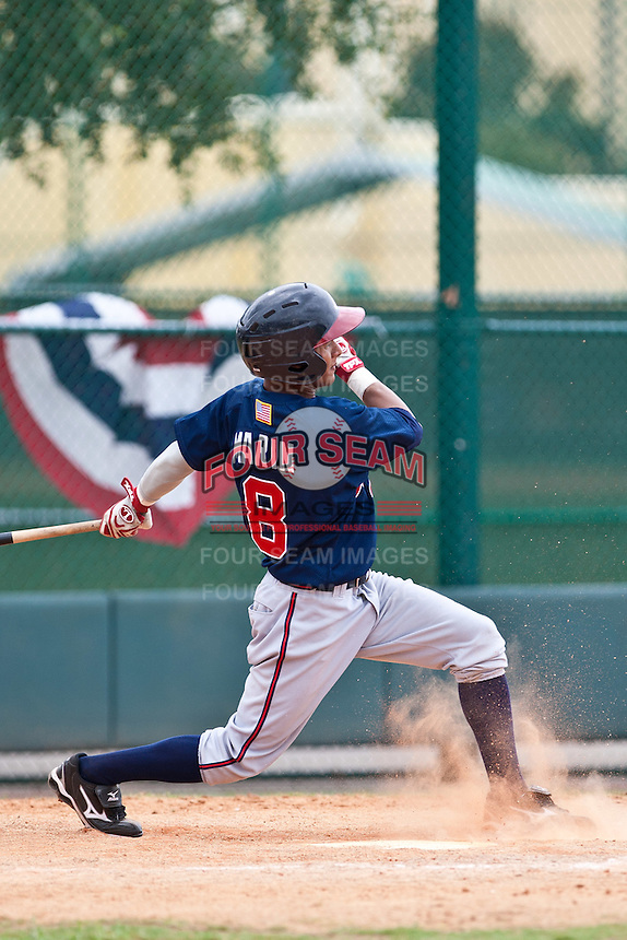 Ivan Marin of the Gulf Coast League Braves during the game against the Gulf Coast League Tigers July 3 2010 at the Disney Wide World of Sports in Orlando, Florida.  Photo By Scott Jontes/Four Seam Images