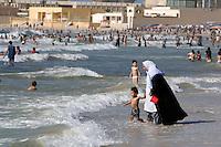 Tripoli, Libya. Mediterranean Beach Scene.