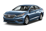 2017 Hyundai Sonata Eco 4 Door Sedan Angular Front stock photos of front three quarter view