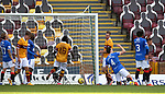 27.09.2020 Motherwell v Rangers:  George Edmundson scores an own goal past Allan McGregor