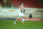 Ulster wing Andrew Trimble on his way to scoring under the posts..Celtic League.Scarlets v Ulster.Parc y Scarlets.02.12.12..©Steve Pope