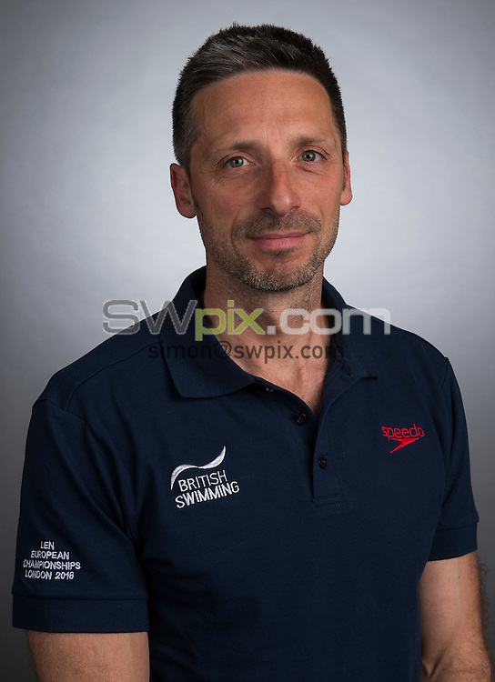 Picture by Alex Broadway/SWpix.com - 23/05/2016 - Swimming - Great Britain Olympic Swimming Squad Portraits - Holiday Inn Stratford, London, England - Bernie Dietzig.