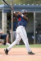 March 20th 2008:  Chris De La Cruz of the Cleveland Indians minor league system during Spring Training at Chain of Lakes Training Complex in Winter Haven, FL.  Photo by:  Mike Janes/Four Seam Images