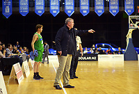Jets coach Tim Mctamney during the National Basketball League match between the Wellington Saints and Manawatu Jets at TSB Bank Arena in Wellington, New Zealand on Sunday, 13 June 2021. Photo: Dave Lintott / lintottphoto.co.nz