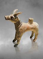 Bronze Age Anatolian terra cotta antilope shaped ritual vessel- 19th to 17th century BC - Kültepe Kanesh - Museum of Anatolian Civilisations, Ankara, Turkey.