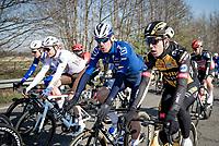 Wout van Aert (BEL/Jumbo-Visma) & Tim Declercq (BEL/Deceuninck - Quick Step) catching up<br /> <br /> 112th Milano-Sanremo 2021 (1.UWT)<br /> 1 day race from Milan to Sanremo (299km)<br /> <br /> ©kramon