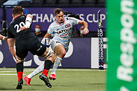 26th September 2020, Paris La Défense Arena, Paris, France; Champions Cup rugby semi-final, Racing 92 versus Saracens; Imhoff (Racing 92) goes past Calum Clarck of Saracens