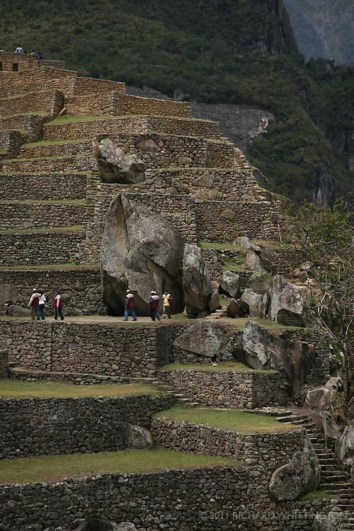 Terraces at Machu Pichu.