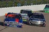 #97: Jesse Little, JJL Motorsports, Ford F-150 JJL Motorsports and #18: Noah Gragson, Kyle Busch Motorsports, Toyota Tundra Safelite AutoGlass