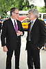 Mike Nichols and Ken Sunshine attends Marvin Hamlisch's funeral on August 14, 2012 .at Temple Emanuel in New York City.