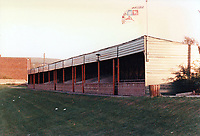 General view of Lewes Football Club, The Dripping Pan, Mountfield Road, Lewes, East Sussex, pictured on 8th November 1986