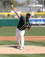 Michael Fiers - Oakland Athletics 2020 spring training (Bill Mitchell)