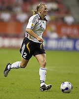 Germany defender (2) Kerstin Stegemann. Germany (GER) defeated Argentina (ARG) 11-0 during an opening round Group A match of the FIFA Women's World Cup China 2007 at Shanghai Kongkou Football Stadium, Shanghai, China, on September 10, 2007.