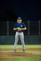 AZL Brewers relief pitcher Phil Pickford (10) looks to his catcher for the sign against the AZL Athletics on August 18, 2017 at Lew Wolff Training Complex in Mesa, Arizona. AZL Brewers defeated the AZL Athletics 6-4. (Zachary Lucy/Four Seam Images)