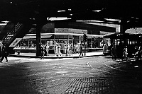 Under the elevated railway, Chicago, Illinois July, 1940.<br /> <br /> Photo by John Vachon.