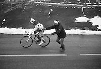 2013 Giro d'Italia.stage 15: Cesana Torinese - Col du Galibier (Valloire)..Davide Appollonio (ITA) with a little help