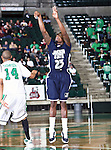 Jackson State Tigers guard De'Suan Dixon (23) goes up for a jump shot  in the game between the Jackson State Tigers and the University of North Texas Mean Green at the North Texas Coliseum,the Super Pit, in Denton, Texas. UNT defeated Jackson 68 to 49