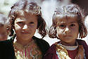 Irak 1973.Petites filles de la région de Barzan.Iraq 1973.Little girls from Barzan district.