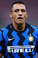 Alexis Sanchez of FC Internazionale reacts during the Serie A football match between FC Internazionale and SSC Napoli at San Siro stadium in Milano (Italy), July 28th, 2020. Play resumes behind closed doors following the outbreak of the coronavirus disease. Photo Marco Canoniero / Insidefoto
