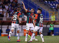 SANTIAGO DE CHILE - CHILE: 06-02-2019: Los jugadores de Club Deportivo Palestino (CHL) celebran el gol anotado a Deportivo Independiente Medellín (COL), durante partido de la Segunda fase, llave 4, entre Club Deportivo Palestino (CHL) y Deportivo Independiente Medellín (COL), por la Copa Conmebol Libertadores 2019 en el estadio San Carlos de Apoquindio, de la ciudad de Santiago de Chile. / Players of Club Deportivo Palestino (CHL), celebrate a goal scored to Deportivo Independiente Medellin (COL), during a match between Club Deportivo Palestino (CHL) and Deportivo Independiente Medellin of the second phase, key 4, for Copa Conmebol Libertadores 2019 at the San Carlos de Apoquindio Stadium, in the city of Santiago de Chile. Photos: VizzorImage / Osvaldo Villarroel / Cont. / Xpress Media.