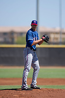 Texas Rangers pitcher Brett Martin (57) prepares to deliver a pitch to the plate during an Instructional League game against the San Diego Padres on September 20, 2017 at Peoria Sports Complex in Peoria, Arizona. (Zachary Lucy/Four Seam Images)