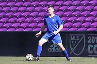Orlando, Florida - Wednesday January 17, 2018: Mac Steeves. Match Day 3 of the 2018 adidas MLS Player Combine was held Orlando City Stadium.