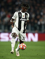 Football Soccer: UEFA Champions UEFA Champions League quarter final second leg Juventus - Ajax, Allianz Stadium, Turin, Italy, March 12, 2019. <br /> Juventus' Moise Kean in action during the Uefa Champions League football match between Juventus and Ajax  at the Allianz Stadium, on March 12, 2019.<br /> UPDATE IMAGES PRESS/Isabella Bonotto