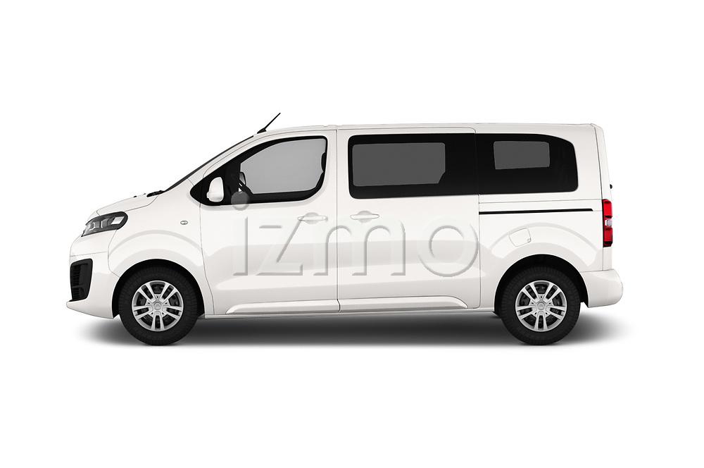 Car driver side profile view of a 2017 Citroen Space Tourer Business 4 Door Passenger Van