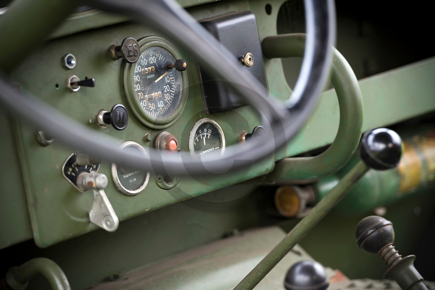 28/02/20 - GISORS - EURE - FRANCE - Essais Jeep DELAHAYE VLR de 1954 - Photo Jerome CHABANNE