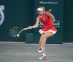 April 7,2017:   Caroline Wozniacki (DEN) loses to Jelena Ostapenko (LAT) 6-2, 6-4, at the Volvo Car Open being played at Family Circle Tennis Center in Charleston, South Carolina.  ©Leslie Billman/Tennisclix/Cal Sport Media