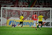 PORTO ALEGRE, (RS), 21.02.2021 - INTERNACIONAL – YPIRANGA –  O atacante Cristiano, da equipe do Ypiranga, comemora o seu gol, na partida entre Internacional e Ypiranga, pela 4ª rodada do Campeonato Gaúcho 2021, no estádio Beira Rio, em Porto Alegre, neste domingo (14).