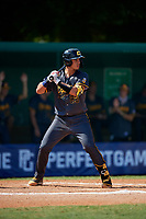 Rene Lastres (23) during the WWBA World Championship at Terry Park on October 8, 2020 in Fort Myers, Florida.  Rene Lastres, a resident of Hialeah Gardens, Florida who attends Calvary Christian Academy High School, is committed to Florida.  (Mike Janes/Four Seam Images)