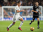 Lucas Vazquez of Real Madrid in action during the La Liga match between Real Madrid and RC Deportivo La Coruna at the Santiago Bernabeu Stadium on 10 December 2016 in Madrid, Spain. Photo by Diego Gonzalez Souto / Power Sport Images